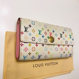 LOUIS VUITTON Monogram Multicolor Sarah Wallet